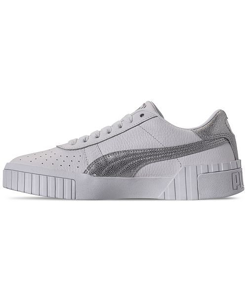 Puma Women's Cali MetFoil Casual Sneakers from Finish Line & Reviews - Finish Line Athletic Sneakers - Shoes - Macy's white