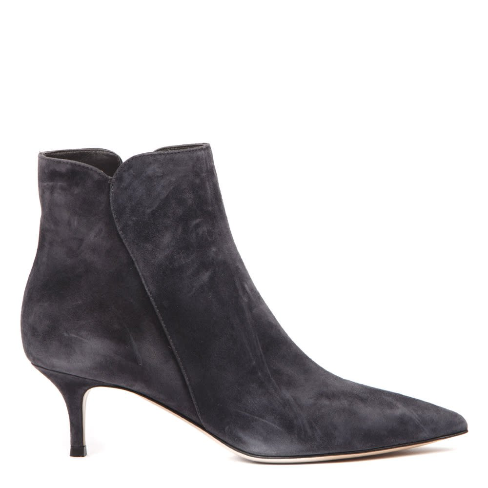 Gianvito Rossi Dark Grey Suede Ankle Boots