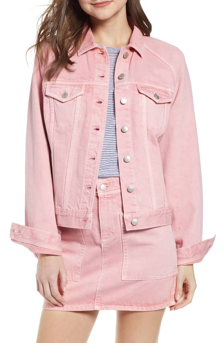 Madewell Raglan Oversize Jean Jacket | Nordstrom