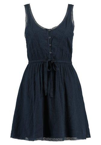 Abercrombie & Fitch PIECED TANK EASY WAIST - Skjortklänning - navy - Zalando.se