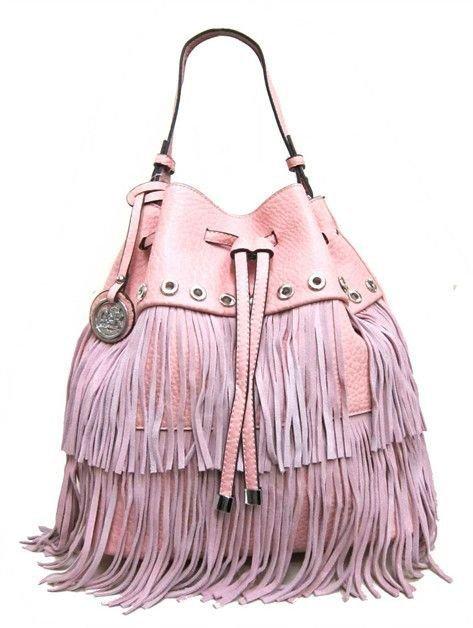 boho pink fringe purses - Google Search