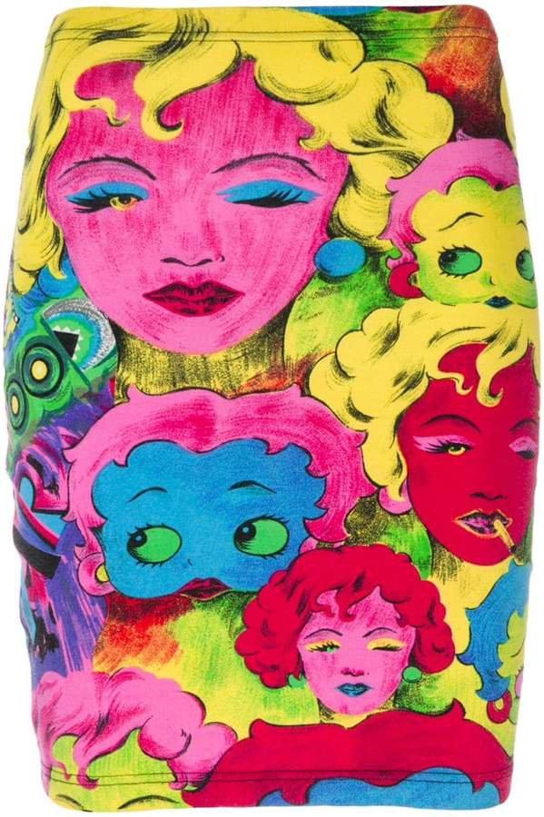 Versace Pre-Owned print skirt