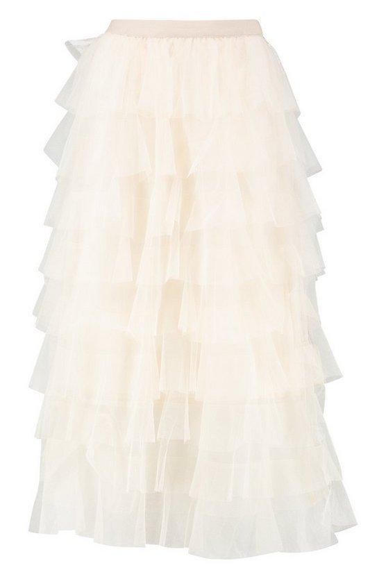 Layer Tulle Midi Skirt | Boohoo