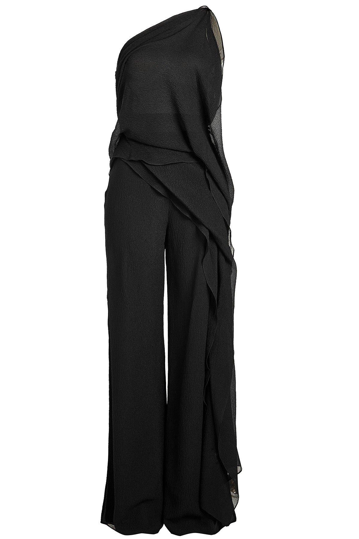 Nettleton Asymmetric Silk Chiffon Jumpsuit Gr. UK 10