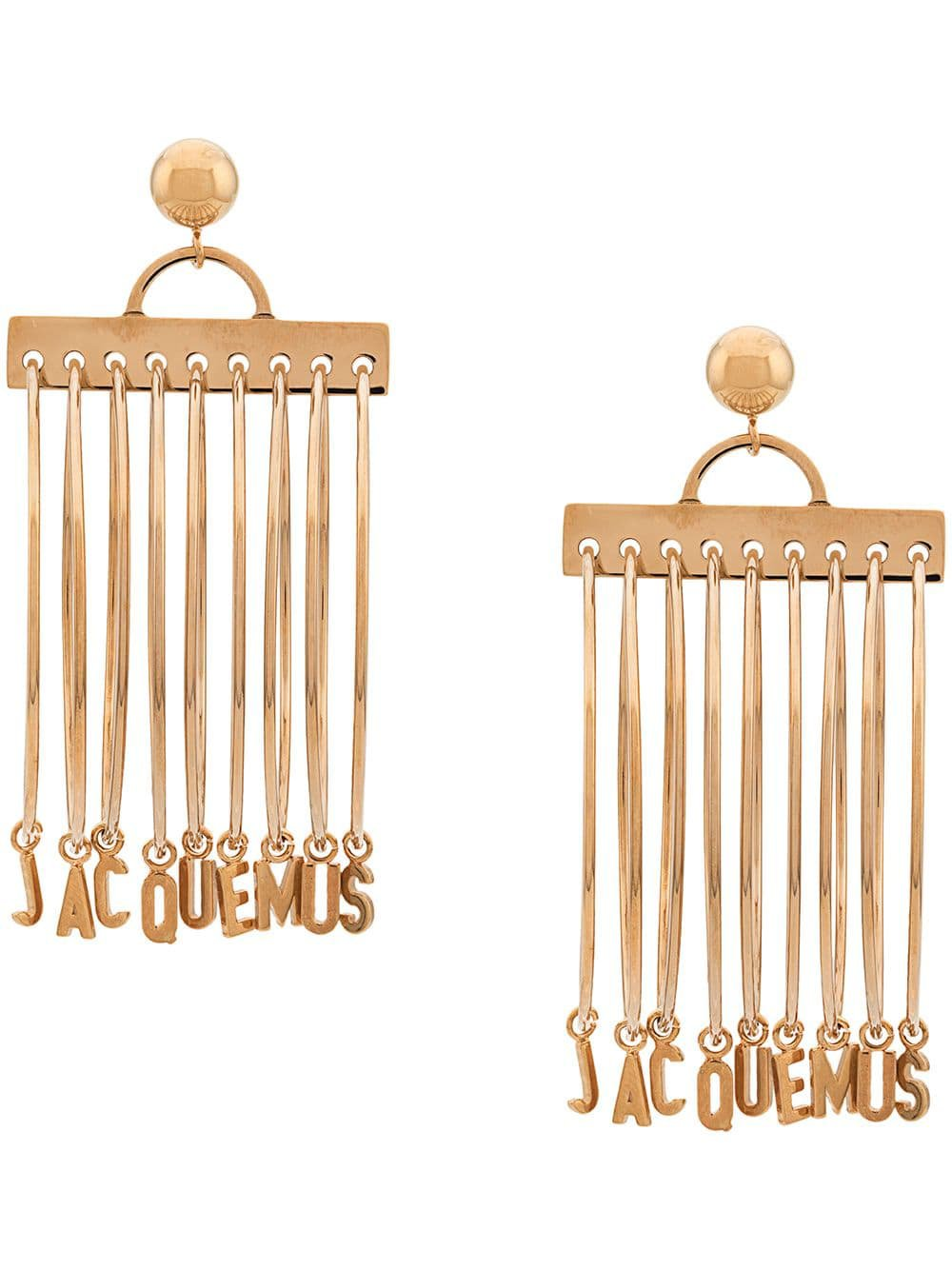 Jacquemus Logo Hoop Earrings - Farfetch