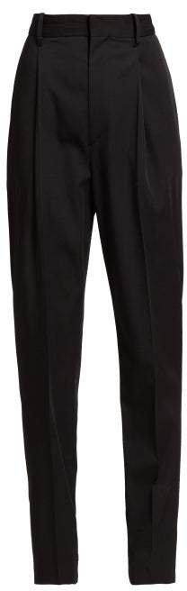Boyd High Rise Wool Trousers - Womens - Black