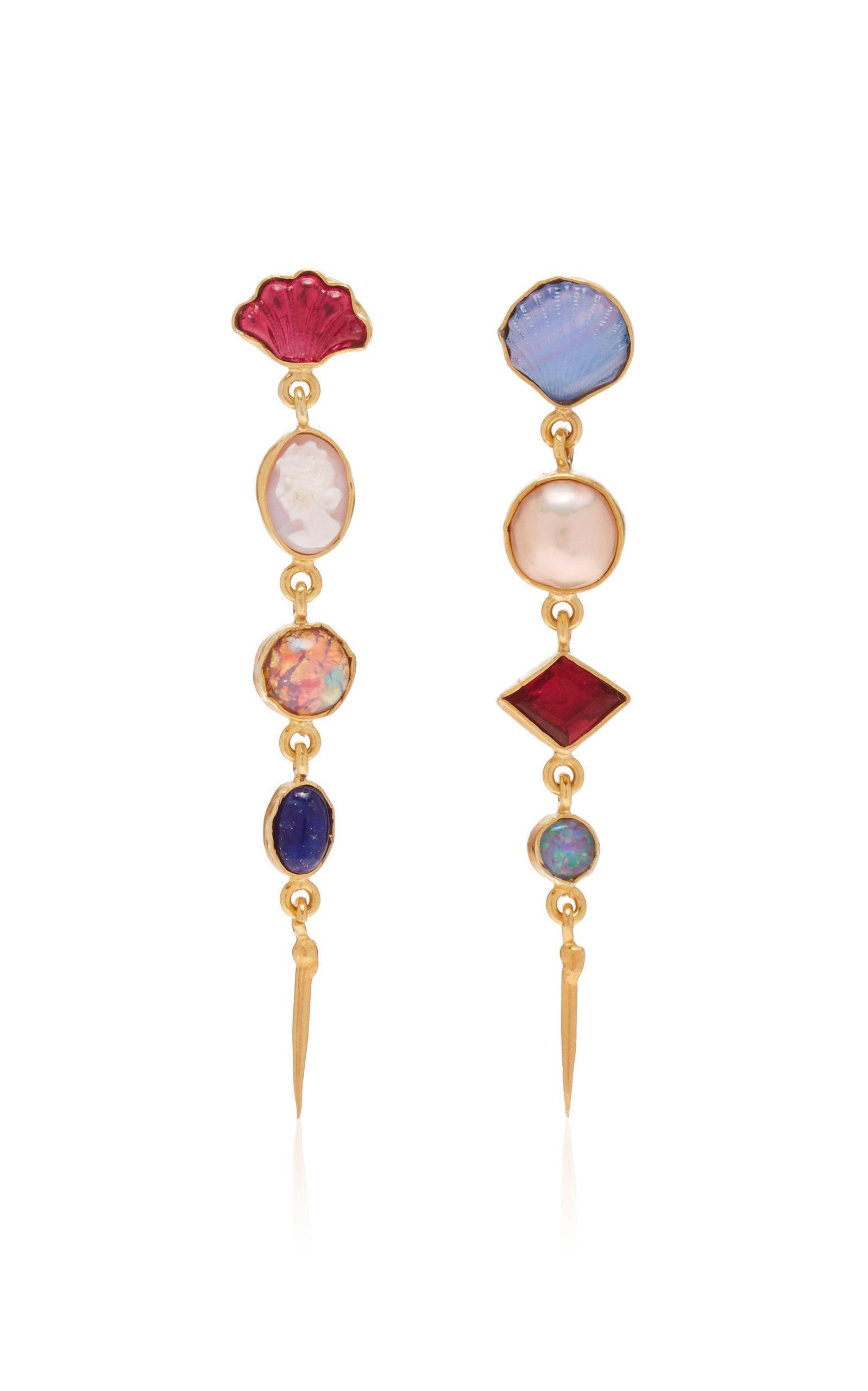 Grainne Morton Four Charm Victorian Drop Earrings