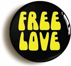 hippie pin - free love