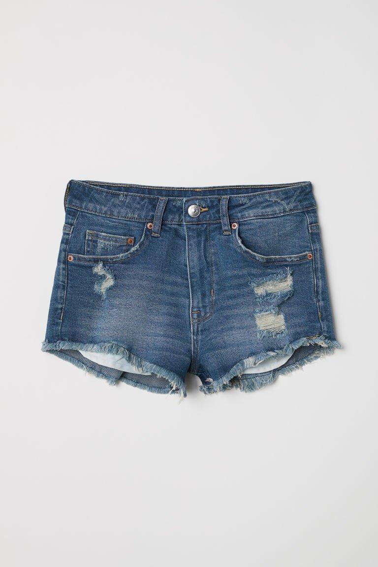 Short Denim Shorts - Dark denim blue - | H&M US