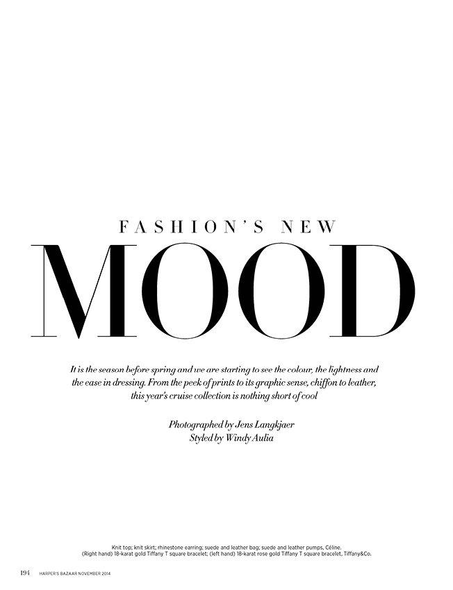 Fashion's new mood