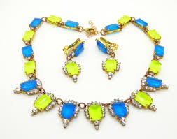 neon blue and yellow jewelry - Google Search