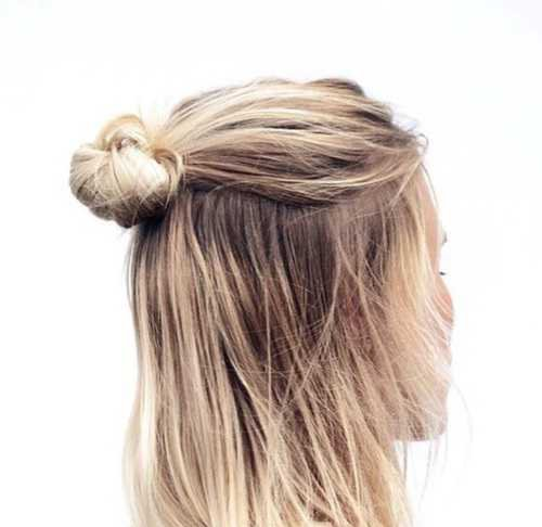 hair, hairstyle e bun imagem no We Heart It