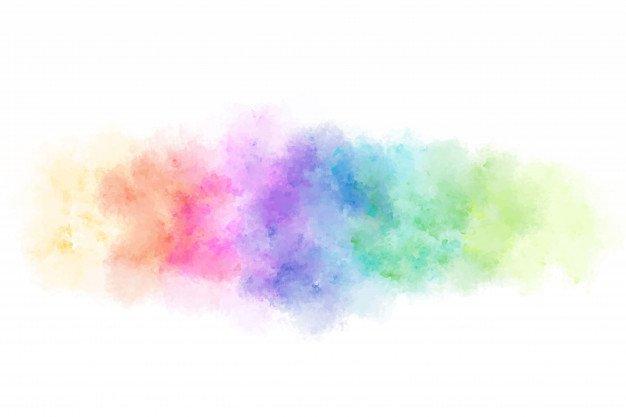Pastel Rainbow Watercolor Blot
