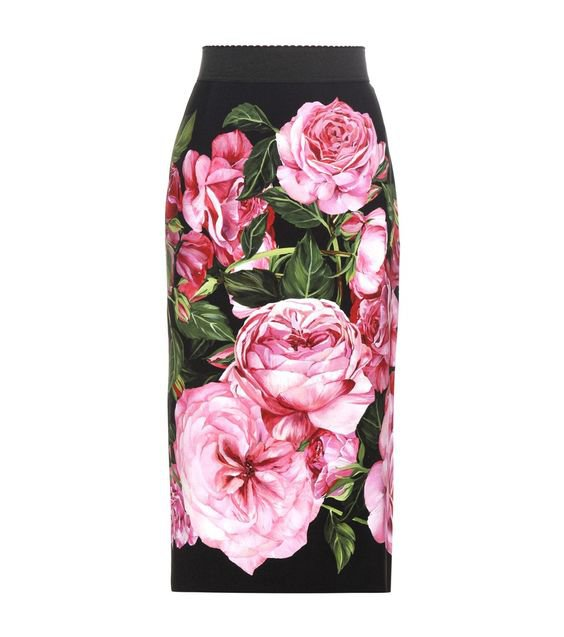 Dolce & Gabbana - Printed pencil skirt