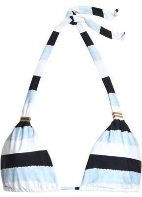 Bia Striped Halterneck Bikini Top