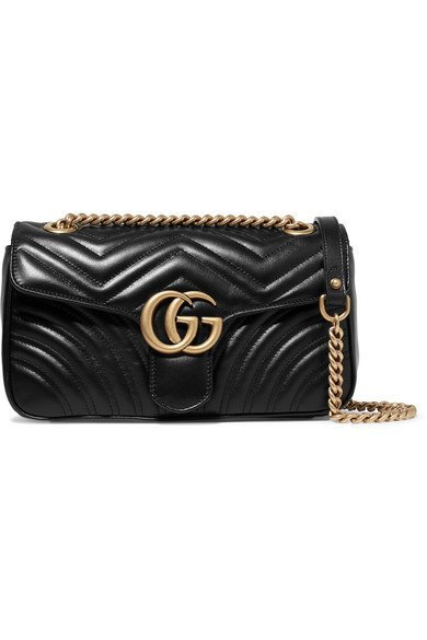 Gucci | GG Marmont small quilted leather shoulder bag | NET-A-PORTER.COM