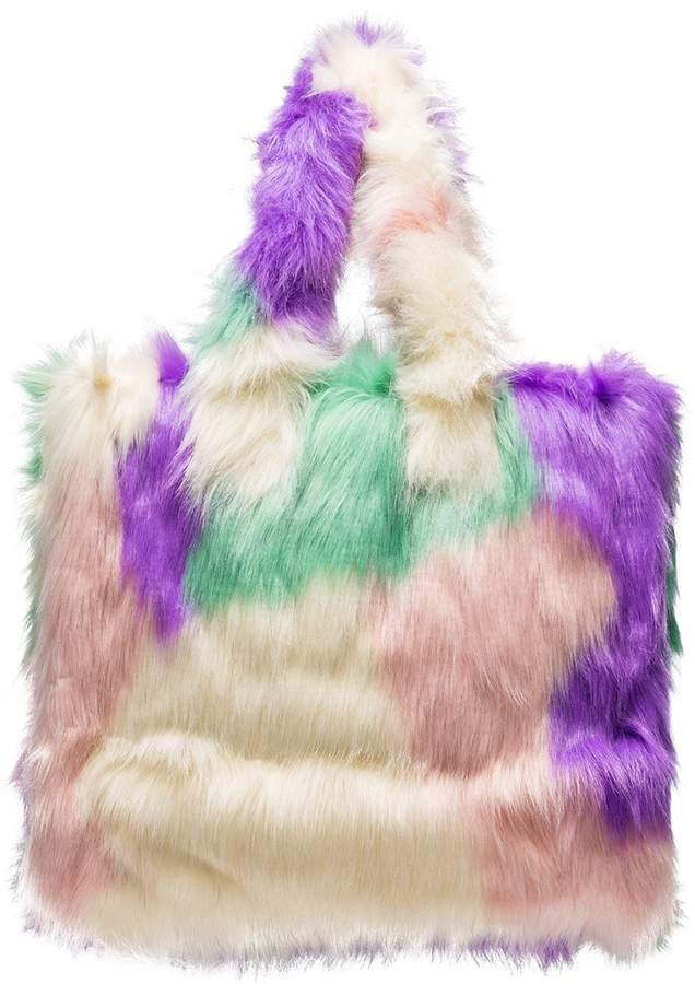 STAND STUDIO Lolita faux fur tote bag