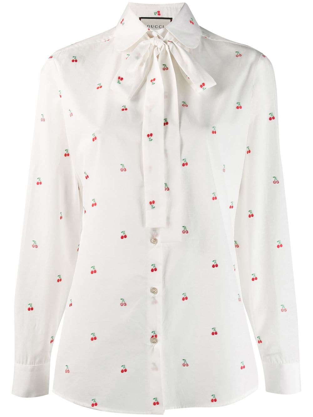 Gucci Cherry Embroidered Blouse - Farfetch