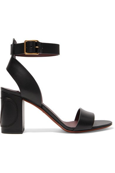 Valentino   Valentino Garavani Go Logo leather sandals   NET-A-PORTER.COM
