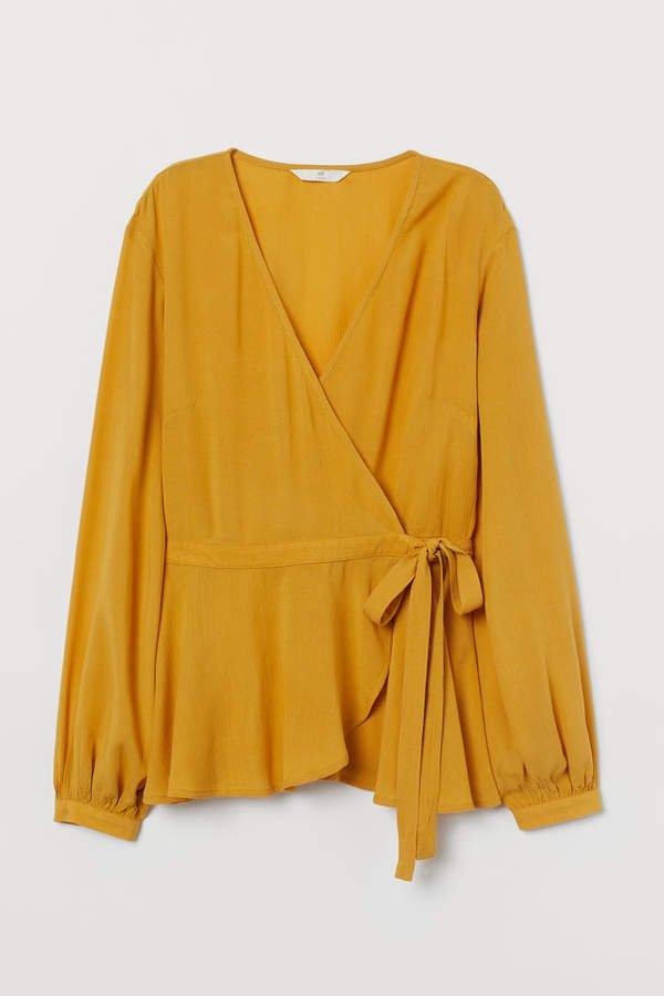 Wrapover Blouse - Yellow
