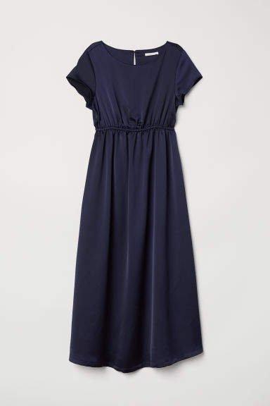 MAMA Short-sleeved Dress - Blue