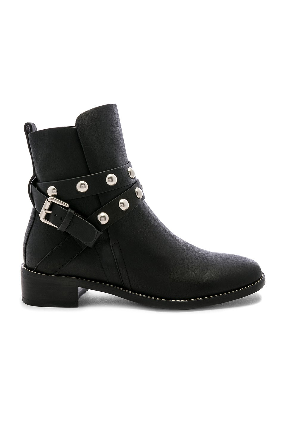 Studded Ankle Strap Bootie