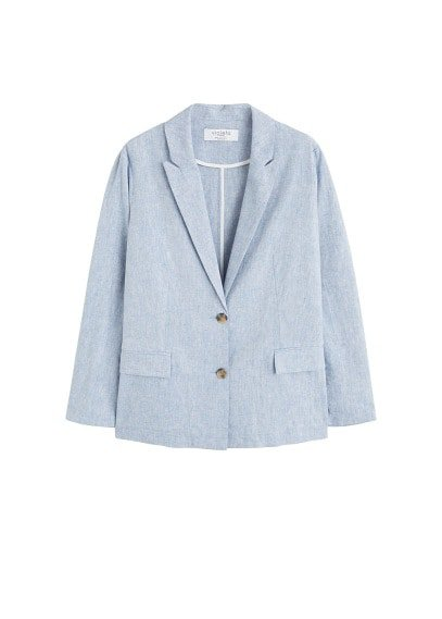 Violeta BY MANGO Structured linen jacket