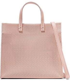 Simple Perforated Leather Tote