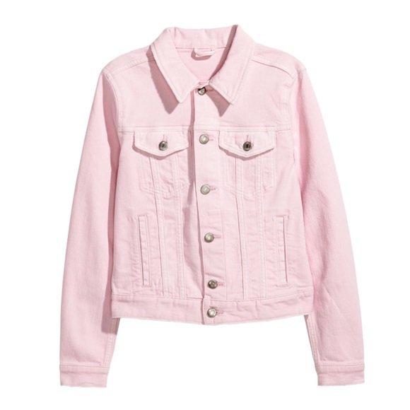 H&M Jackets & Coats   Nwt Hm Light Pink Denim Jean Jacket   Poshmark