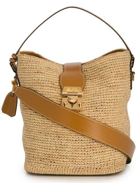 Mark Cross woven shoulder bag