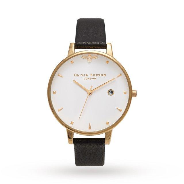 Olivia Burton Queen Bee Black & Gold | Ladies Watches | Watches | Goldsmiths