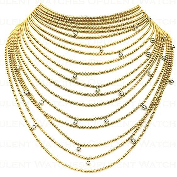 Cartier Draperie de Decollete Diamond Yellow Gold Necklace