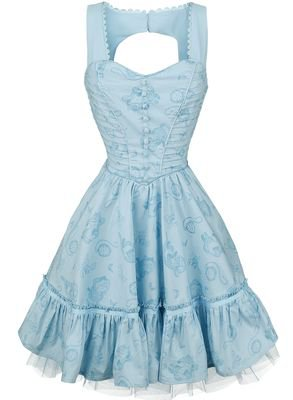 Through The Looking Glass - Alice Classic Dress | Alice in Wonderland Medium-length dress | EMP
