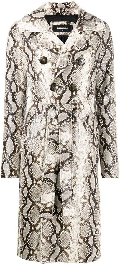 python print trench coat