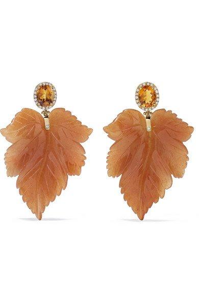 Casa Castro   18-karat gold multi-stone earrings   NET-A-PORTER.COM