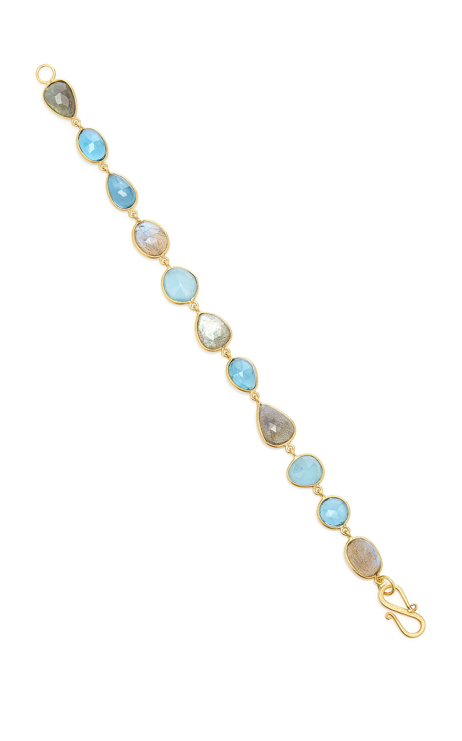Bahina One of a Kind London Blue Aquamarine and Labradorite Bracelet