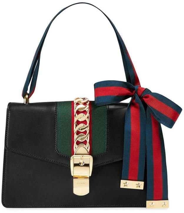 black Sylvie leather shoulder bag