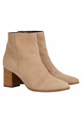 Beige Suede Ankle Boots | b4Ballerinas