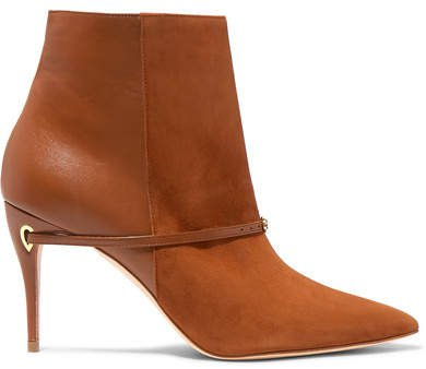 Nicolò 85 Suede And Leather Ankle Boots - Tan