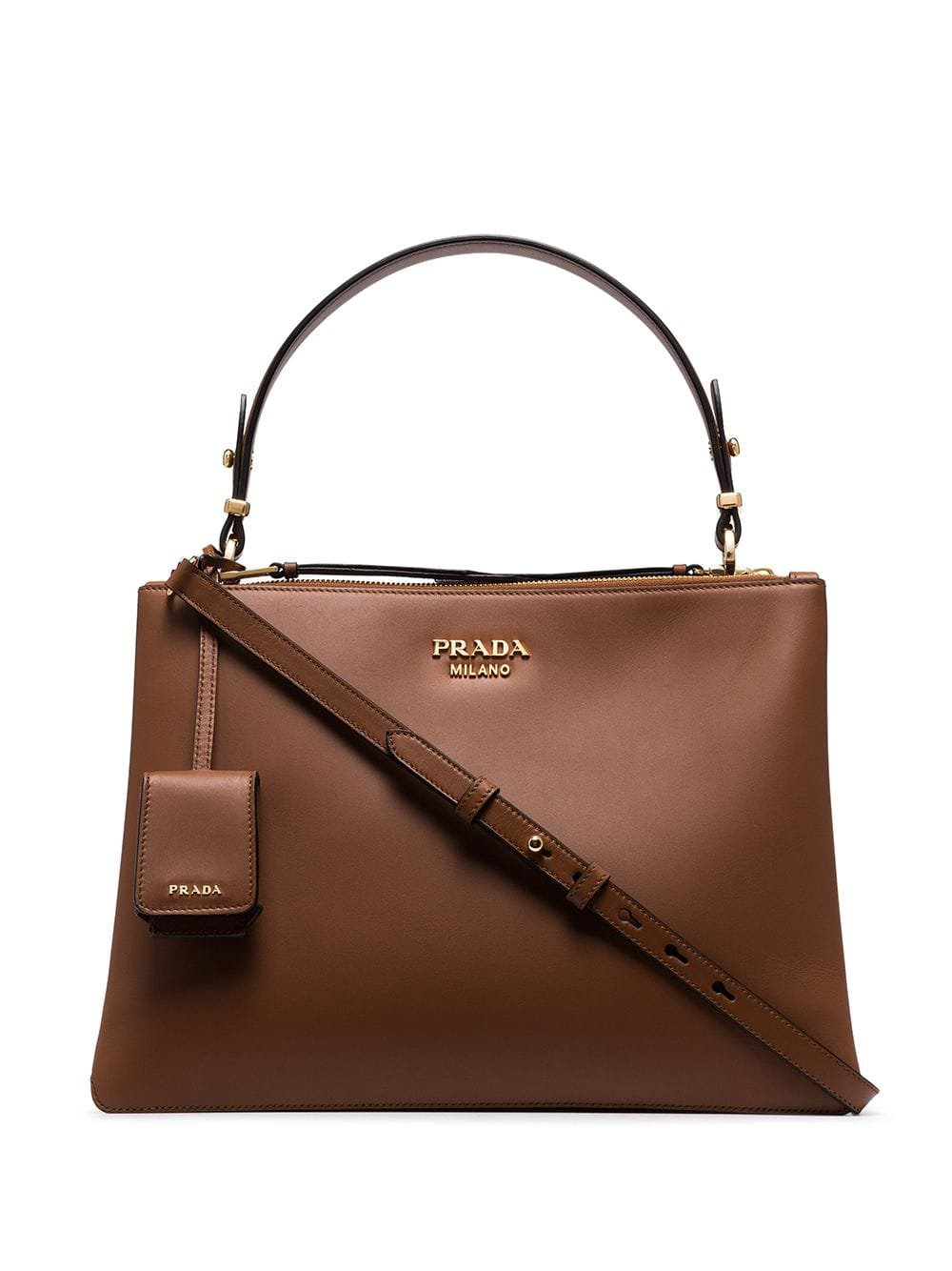Prada Double-Zip Tote Bag | Farfetch.com