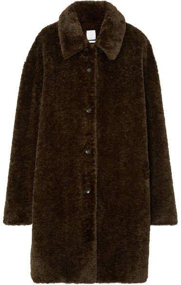 Deveaux - Oversized Faux Fur Coat - Brown