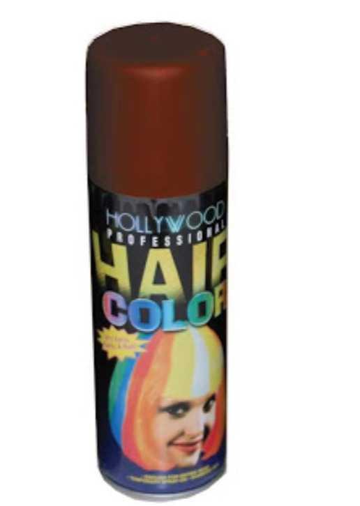 brown temporary hair color spray
