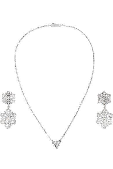 Buccellati | 18-karat white gold diamond earring and necklace set | NET-A-PORTER.COM