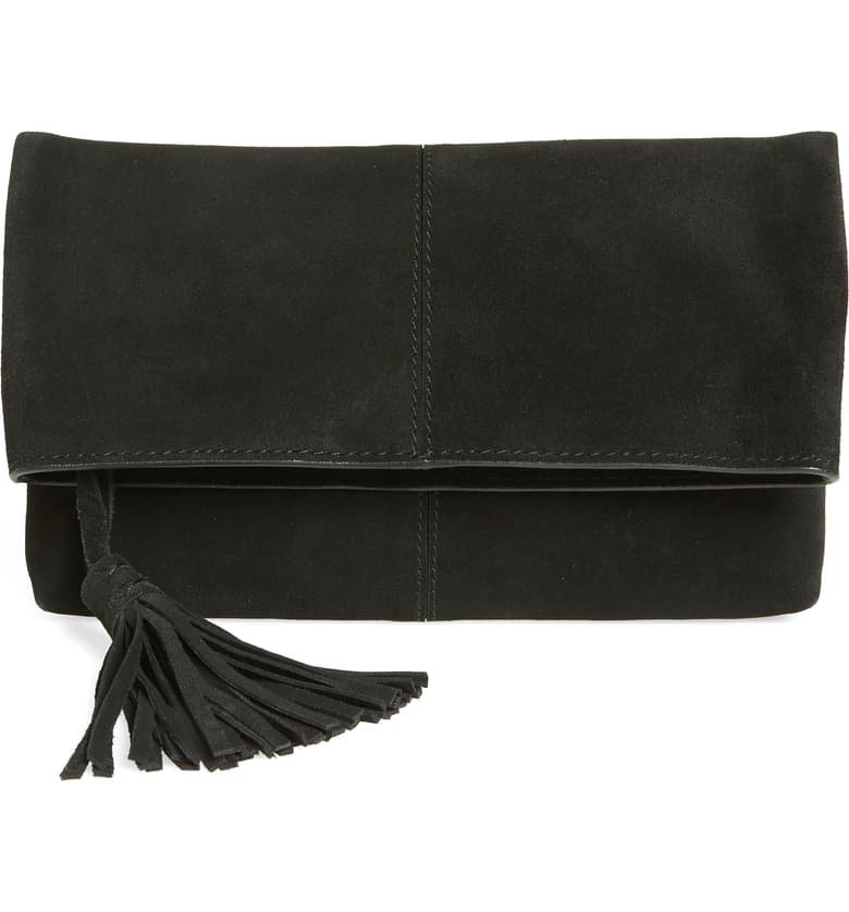 Leith Suede Clutch | Nordstrom