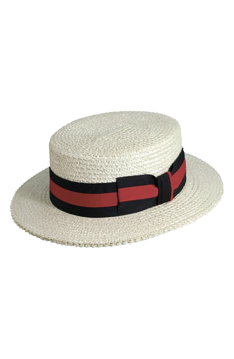 Scala Straw Boater Hat | Nordstrom