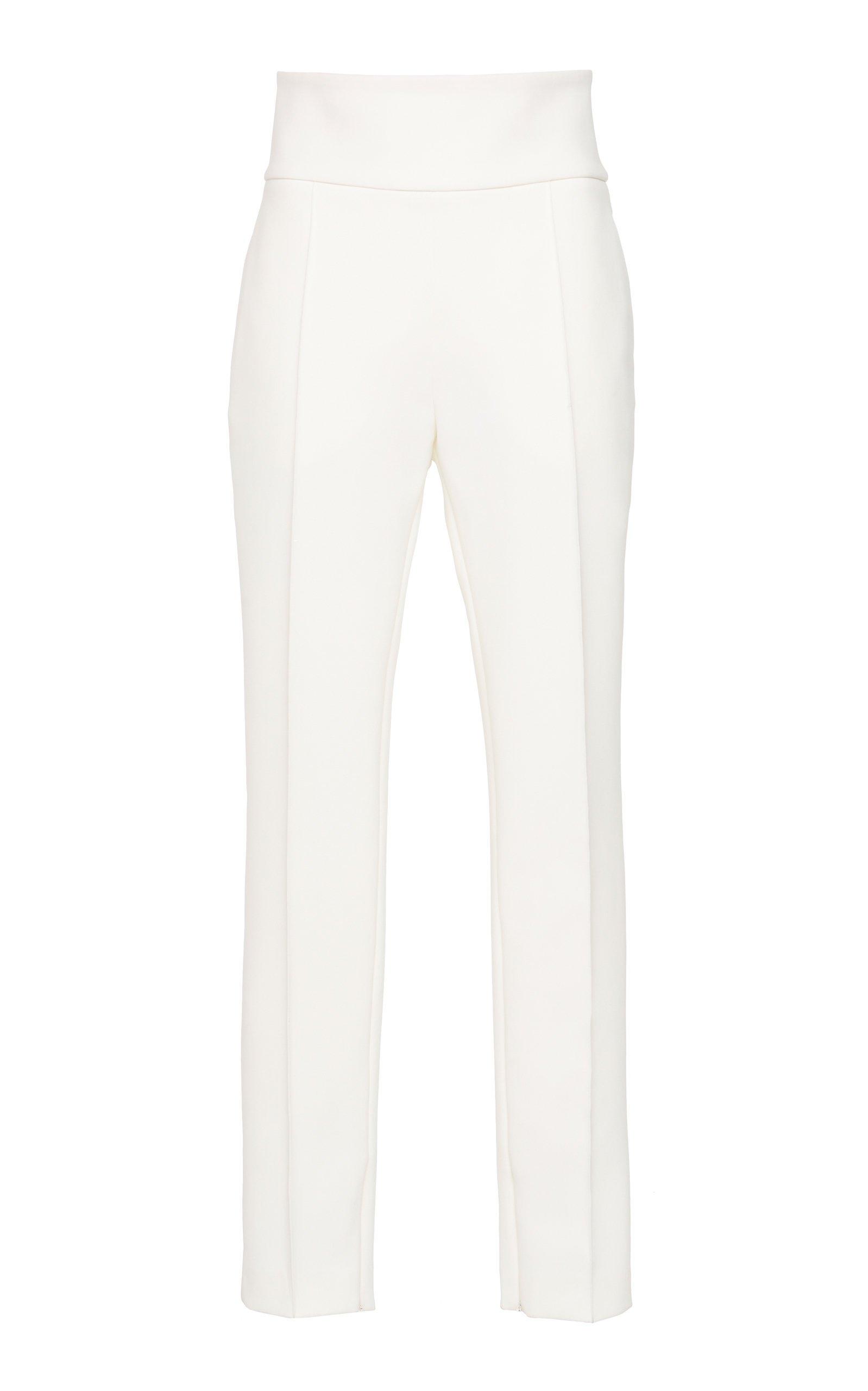 Alexandre Vauthier Pleated Crepe Slim-Leg Pants