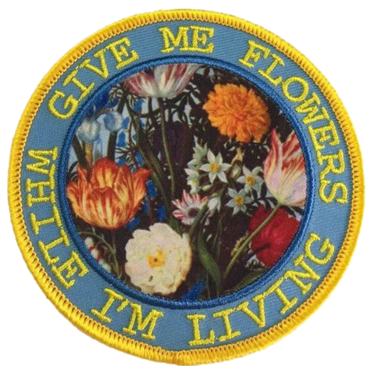 Flower aesthetic patch png