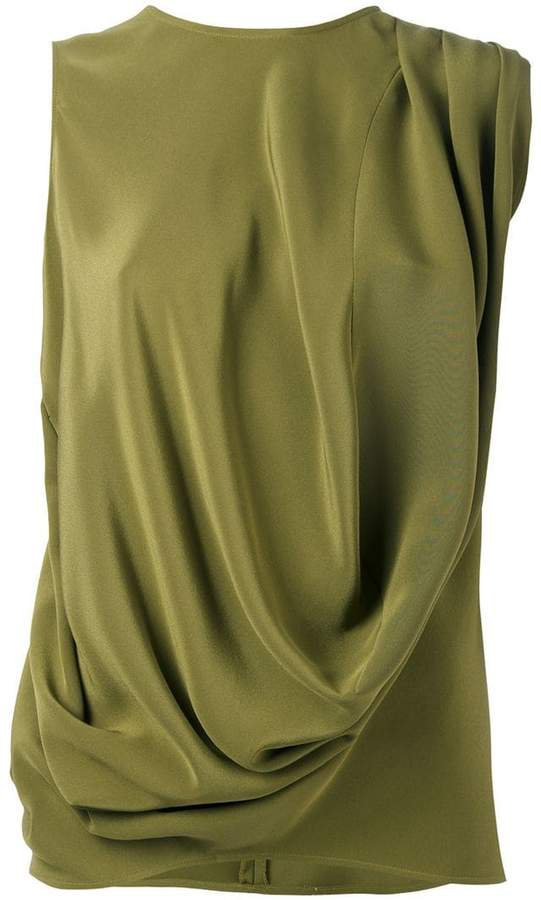 draped tank top
