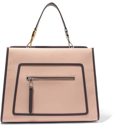 Runaway Large Leather Tote - Pink