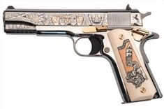 Colt Rose Gold Mexican Heritage gun .38 Super 5in 9rd Engraved TALO 1 of 429 - Tombstone Tactical. (O2091Z)
